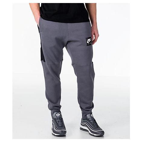 ab4c2a9e7 Nike Men's Sportswear Air Fleece Jogger Pants, Grey | ModeSens