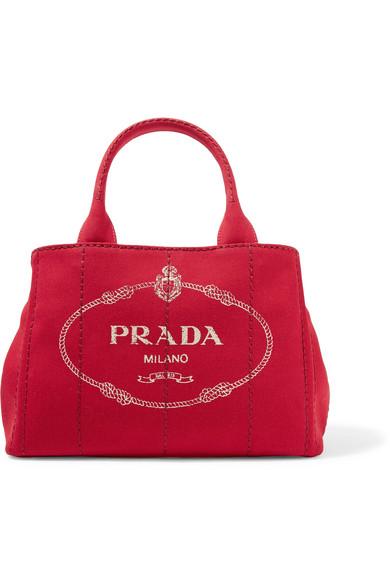 49d39fd5b5fa Prada Giardiniera Printed Canvas Tote In Red   ModeSens