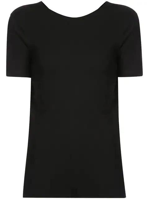 Rosetta Getty Cotton Jersey Open Back Tee In Black