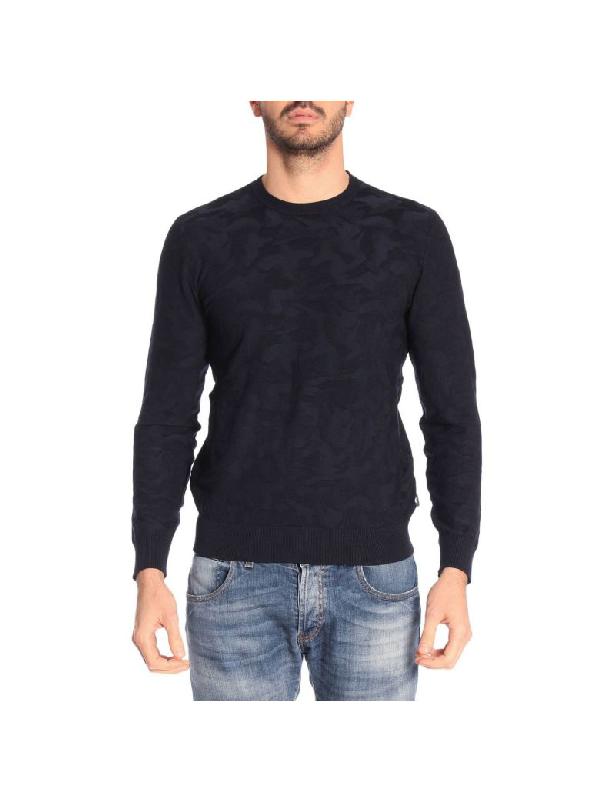 Emporio Armani Sweater Sweater Men  In Blue