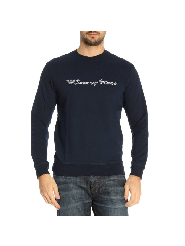 Emporio Armani Sweater Sweater Men  In Blue