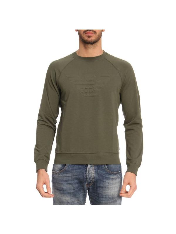 Emporio Armani Sweater Sweater Men  In Military