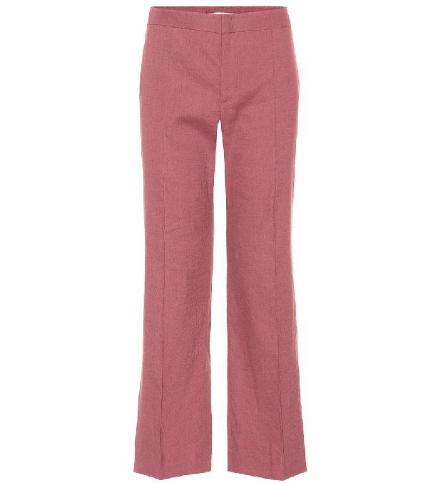 9d223c41d9 Etoile Isabel Marant Oxy Linen-Blend Cropped Trousers In Purple ...