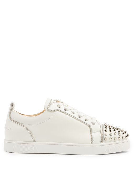 a74ded93a0d Christian Louboutin Junior Zip Spike-Embellished Low-Top Trainers In White  Multi