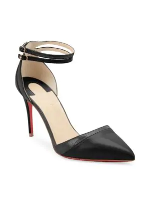 9fb711a13ca1 Lined with leather. Signature red leather sole. Available in Beige. Made in  Italy. Christian Louboutin Women s Uptown-Double Leather Pumps - Nude Size  11 A ...