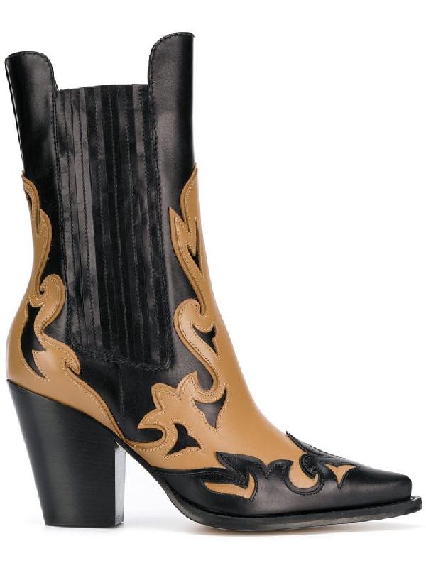 76ec3b3ae6c9ec Alberta Ferretti Laser-Cut Boot In Black
