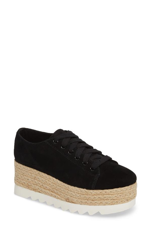 72f21420839 Steve Madden Karma Espadrille Platform Sneaker In Black Sued