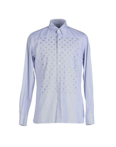 Dondup Striped Shirt In Dark Blue