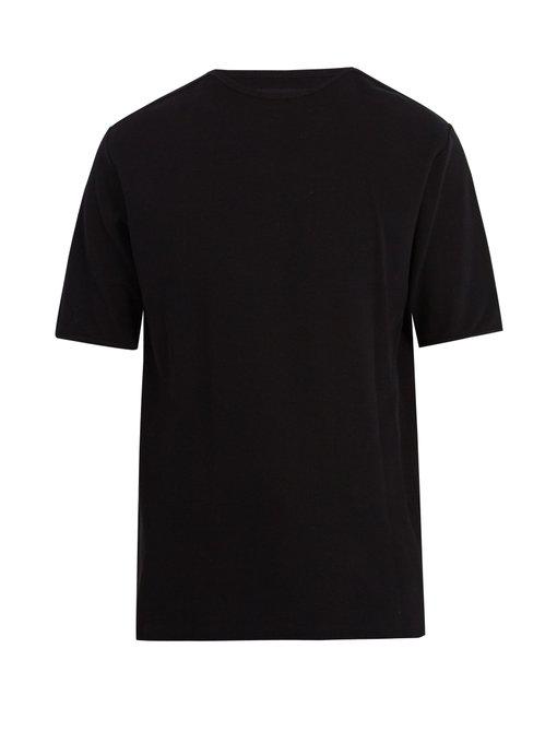 Lemaire Crew-Neck Cotton-Mesh T-Shirt In Black