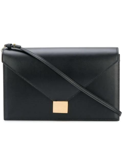 Victoria Beckham Envelope Clutch Handbag In Black