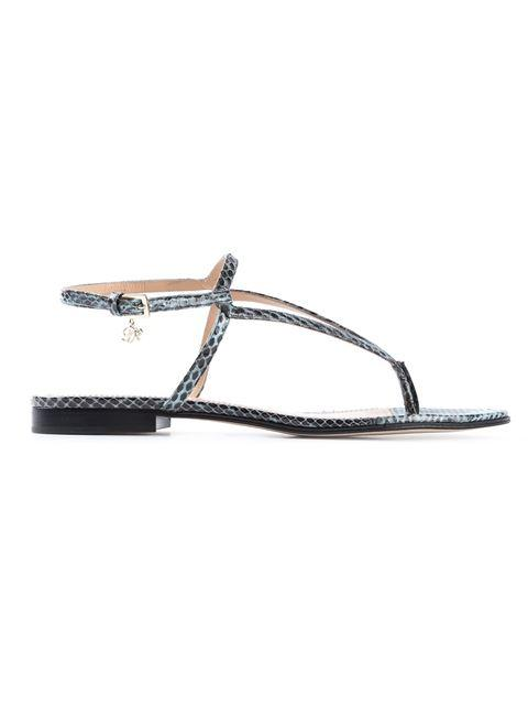 Dsquared2 Toe Strap Sandals In Slate Blue