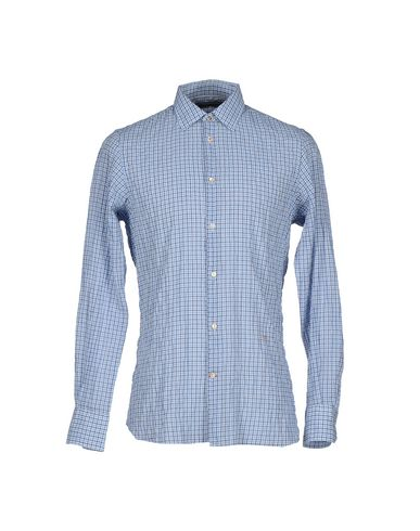 Dondup Checked Shirt In Sky Blue