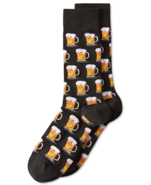 Hot Sox Men's Socks, Beer In Black