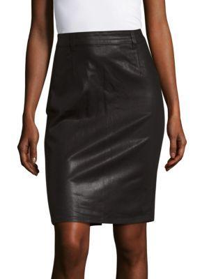 Pistola Stella Solid Pencil Skirt In Onyx