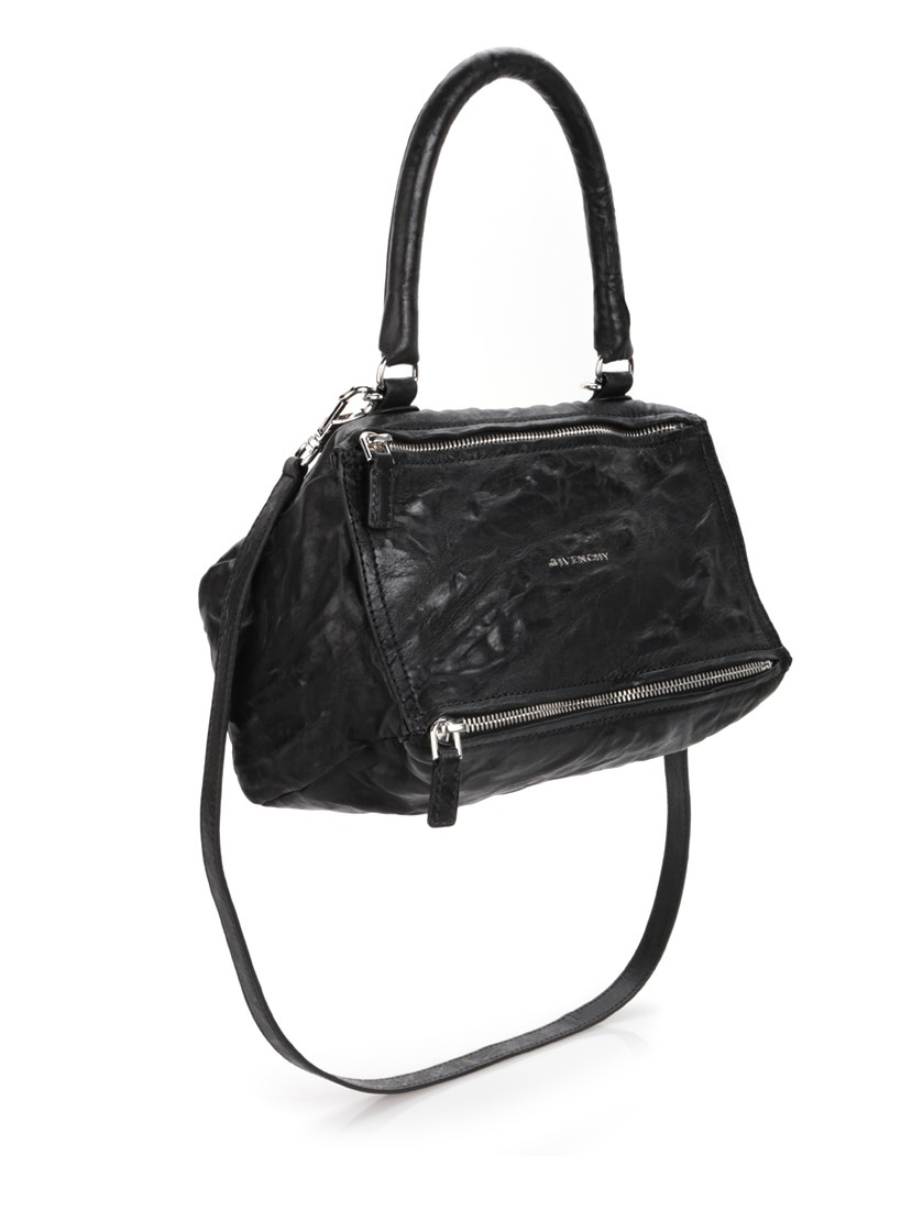 Givenchy Small Pandora - Logo Leather Satchel - Black
