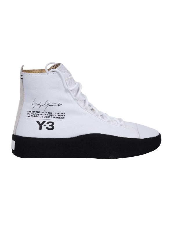 656cf8ef9957d Y-3 Bashyo High-Top Sneakers In Ftwwht-Cblack-Cblack