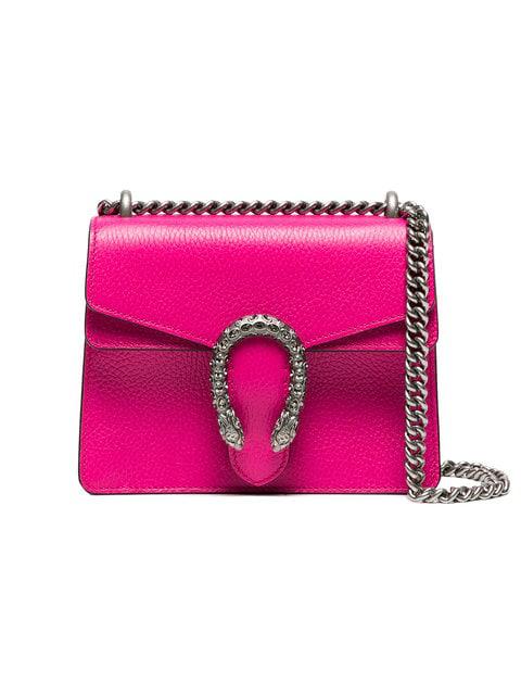 868b80fd7cdaca Gucci Pink Dionysus Small Leather Shoulder Bag - Farfetch | ModeSens