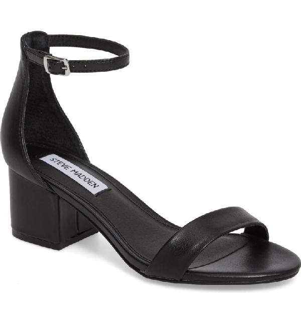 bca36f5c2db Steve Madden Irenee Ankle Strap Sandal In Black Leather