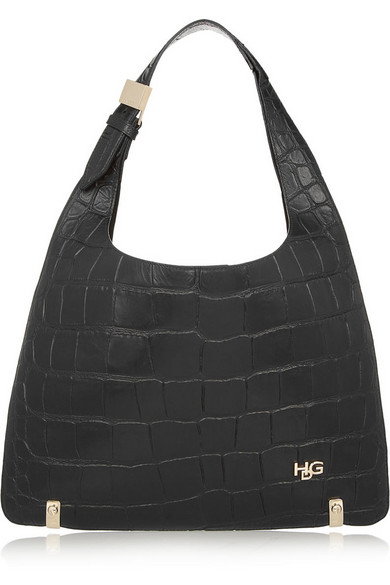 Givenchy Small House De  Bag In Black Crocodile-style Leather
