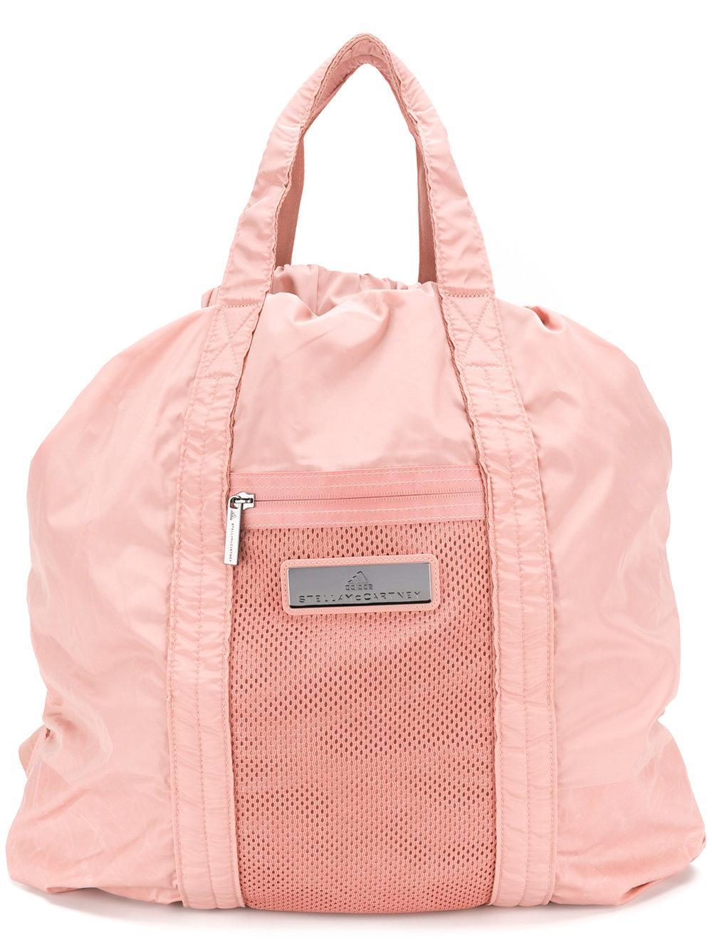 buy popular 4955b 64ec0 Adidas By Stella Mccartney Blush Cinnamon Gym Sack In Cinnamon Blush