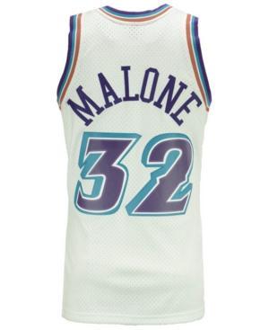 new style 28ed1 4b031 Men's Karl Malone Utah Jazz Hardwood Classic Swingman Jersey in White