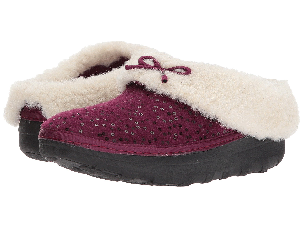ef88ba57c73 Loaff Snug Sequin Slipper, Deep Plum 1