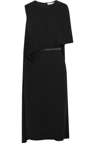 Givenchy Woman Belted Draped Dress In Stretch-crepe Black
