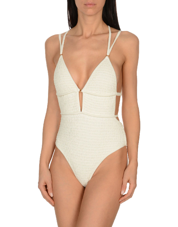 For Love & Lemons One-piece Swimsuits In Ivory