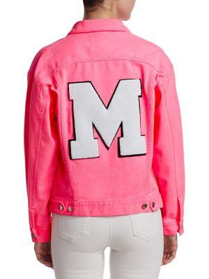 fedaab48d3237 Msgm Neon Denim Jacket In Hot Pink | ModeSens