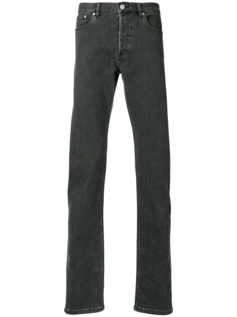 A.p.c. Petit New Standard Slim Fit Jeans In Washed Black In Grey