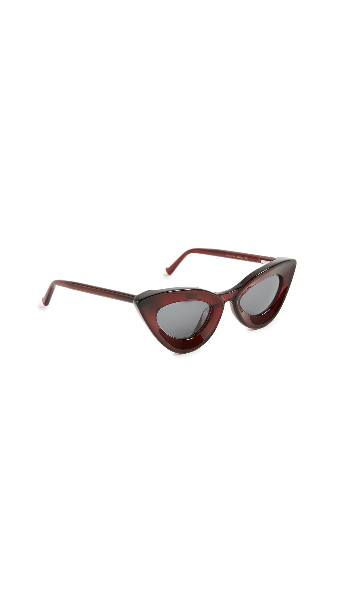 Grey Ant Iemall Cat Eye Sunglasses In Red/Grey