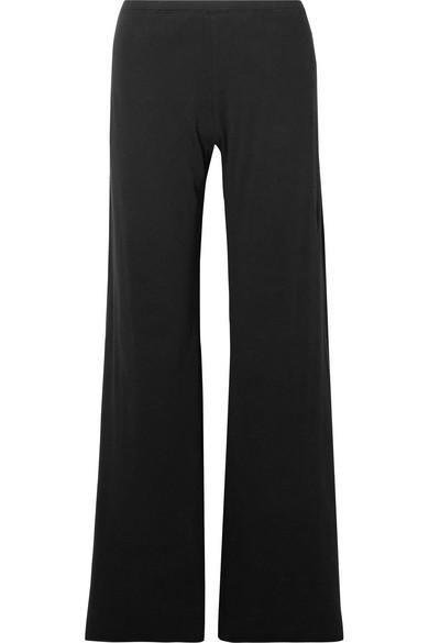 Skin Essentials Pima Cotton-Jersey Pajama Pants In Black