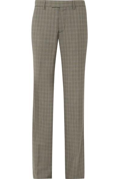 Balenciaga Le Monsieur Checked Wool And Mohair-Blend Straight-Leg Pants In Gray