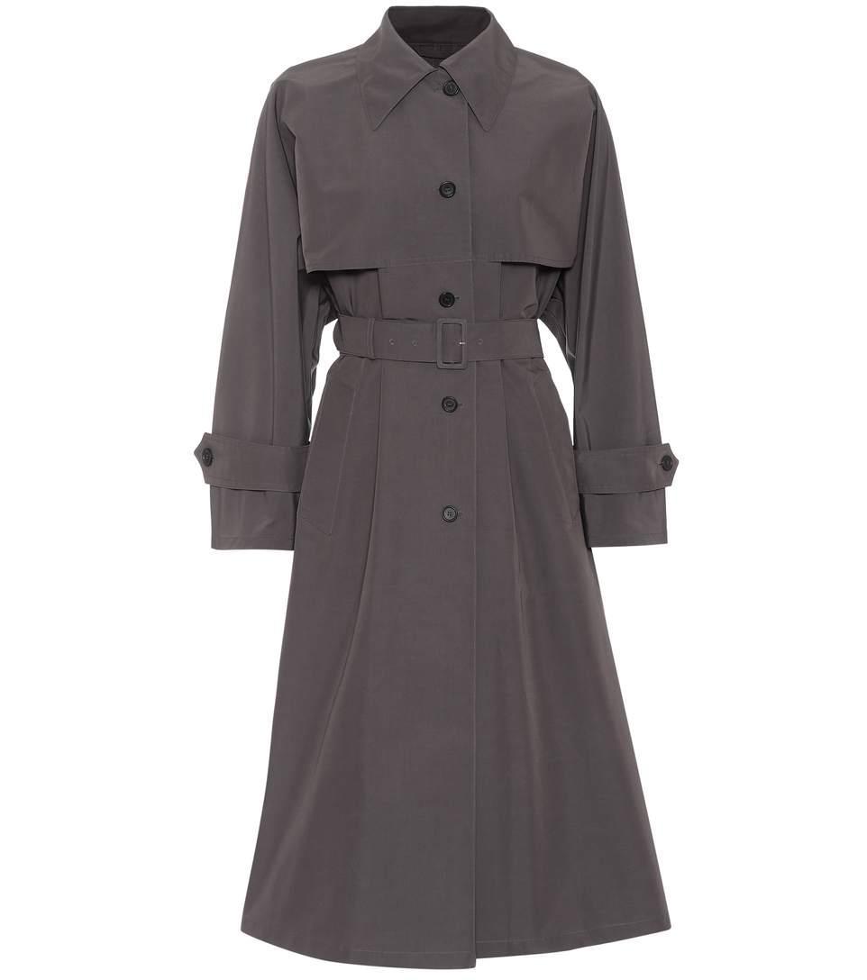 883aa12b0b9 Prada Cotton-Blend Trenchcoat In Grey
