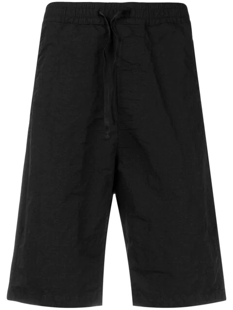 Stone Island Shadow Project Elastic Waist Shorts In Black