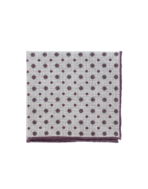Eleventy Pocket Square With Circles In Gry-Burg