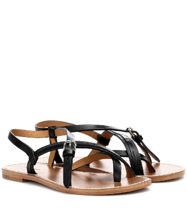 Isabel Marant Jingo Leather Sandals In Black