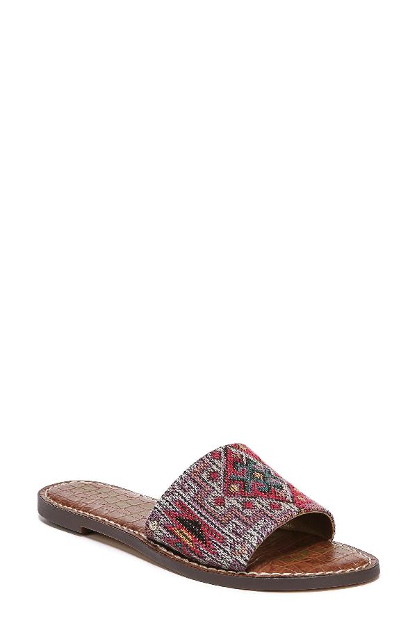 Sam Edelman Gio Slide Sandal In Red Multi Print
