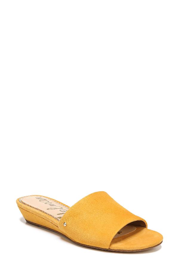 d43849d483b0 Sam Edelman Liliana Slide Sandal In Yellow Suede