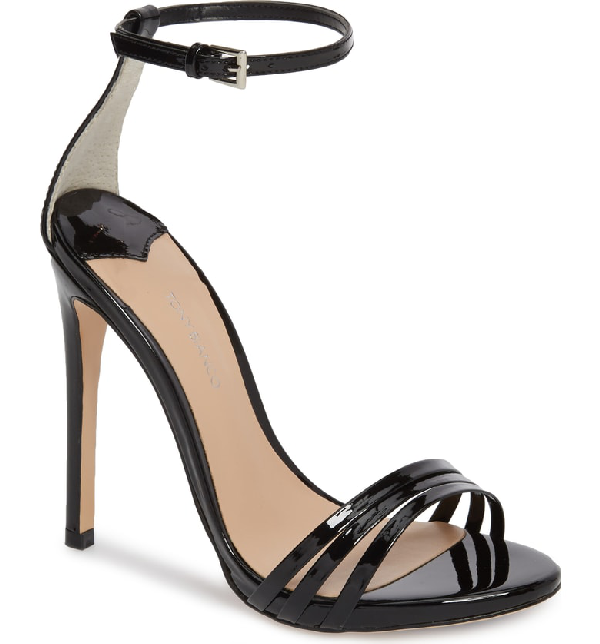 Tony Bianco Aroma Strappy Sandal In Black Patent Leather