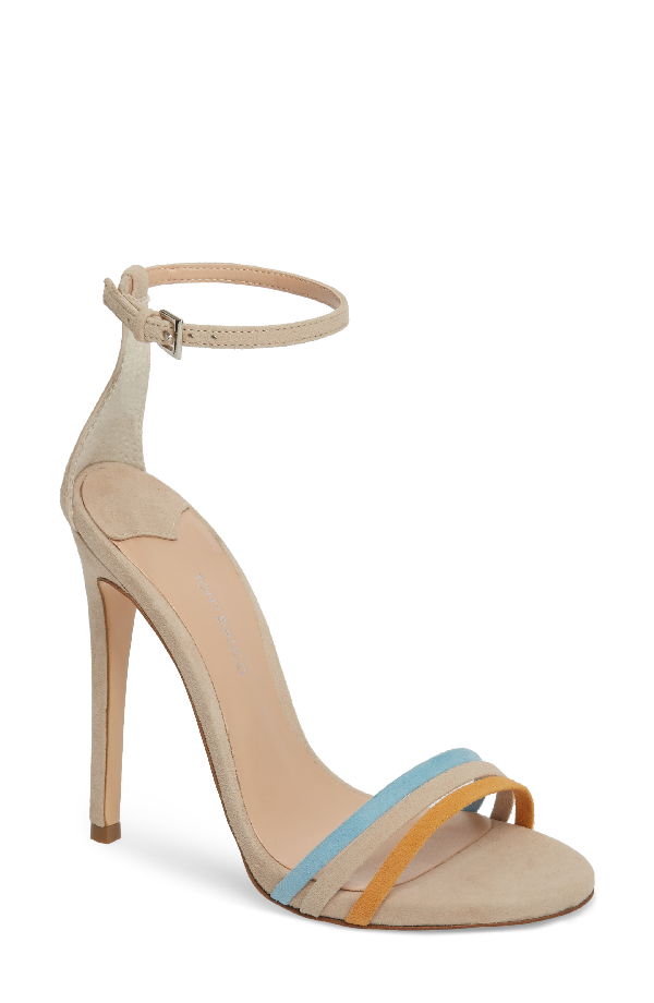 Tony Bianco Aroma Strappy Sandal In Ochre Suede