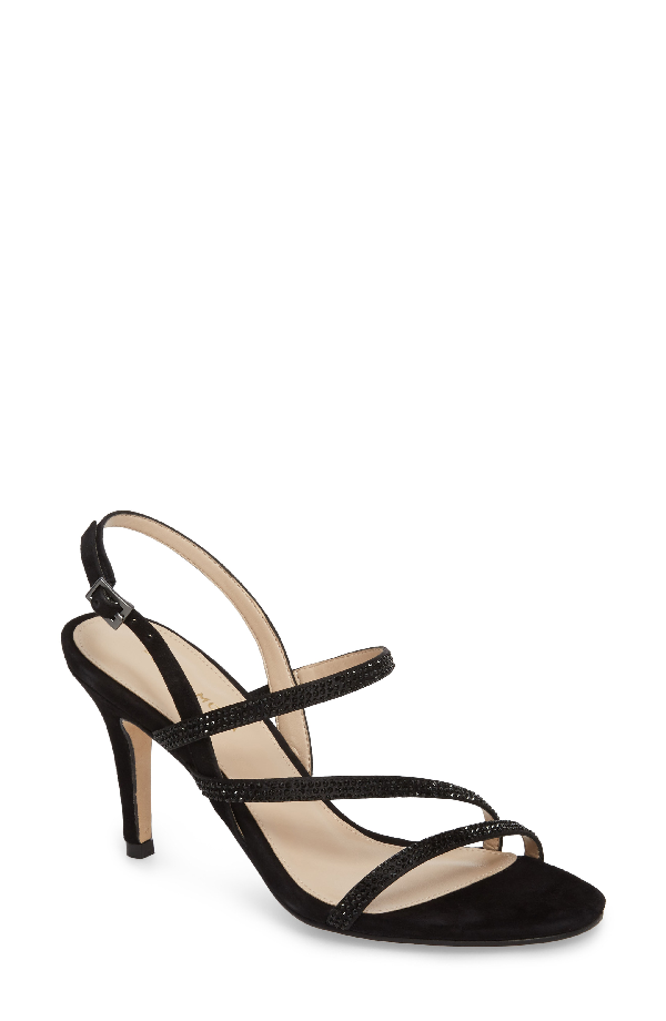 Pelle Moda Ruma Sandal In Black Satin
