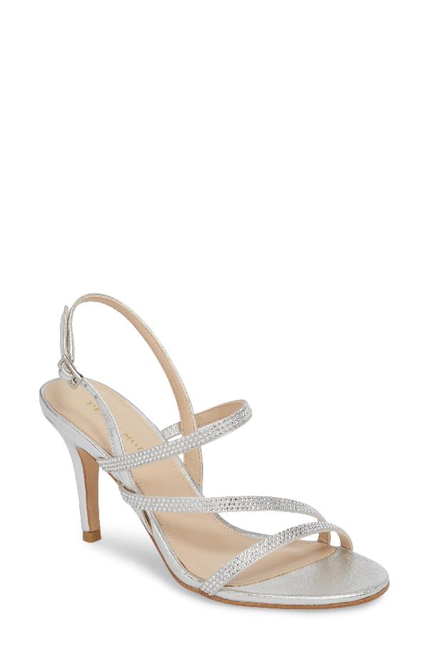 Pelle Moda Ruma Sandal In Silver Satin