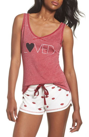 Pj Salvage Graphic Tank In Deep Red