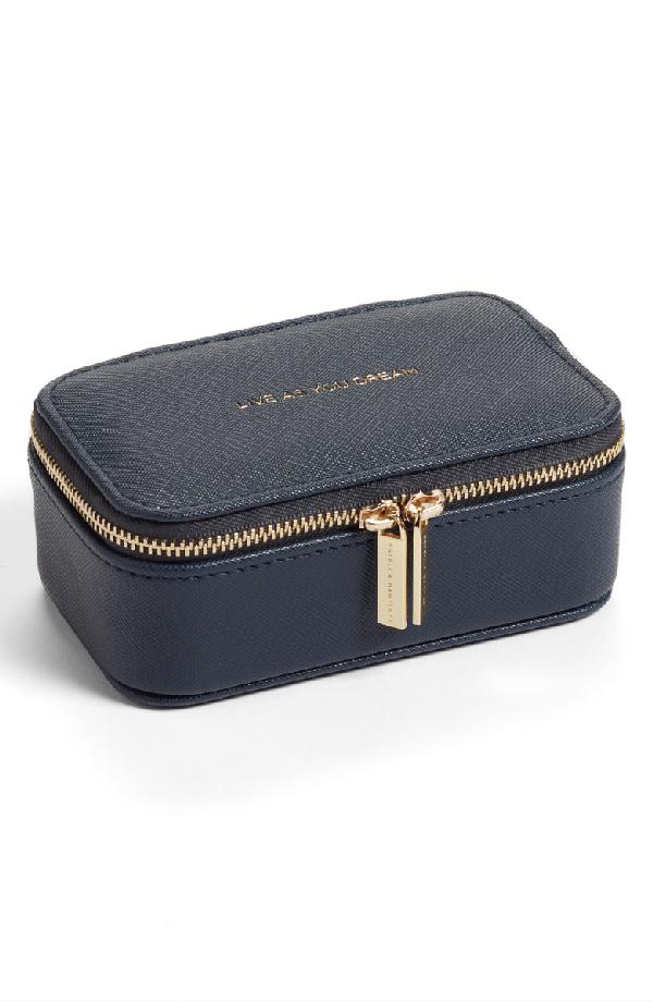 Estella Bartlett Mini Jewelry Box - Blue In Navy - Live As You Dream