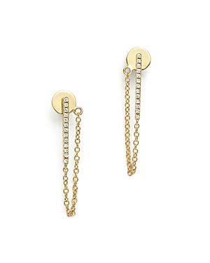 Bloomingdale's Diamond Bar Drop Earrings In 14k Yellow Gold, .08 Ct. T.w.