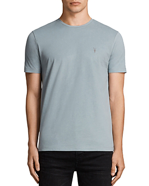 Allsaints Brace Tonic Tee In Chrome Blue
