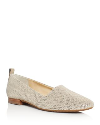 Paul Green Lenny Metallic Perforated Flats In Gold