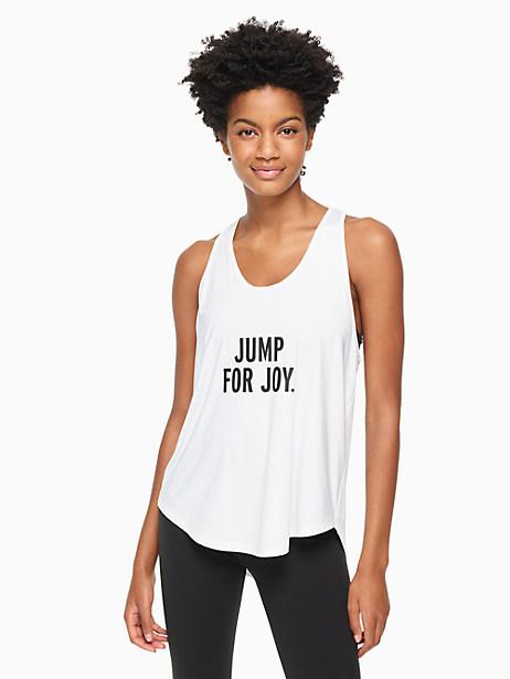 Kate Spade Jump For Joy Performance Tank In Fresh White