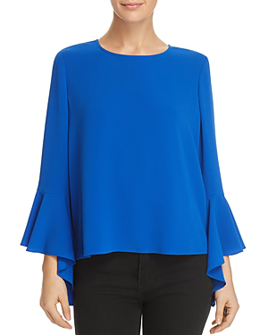 Vince Camuto Cascade Bell-sleeve Top - 100% Exclusive In Cobalt Blue